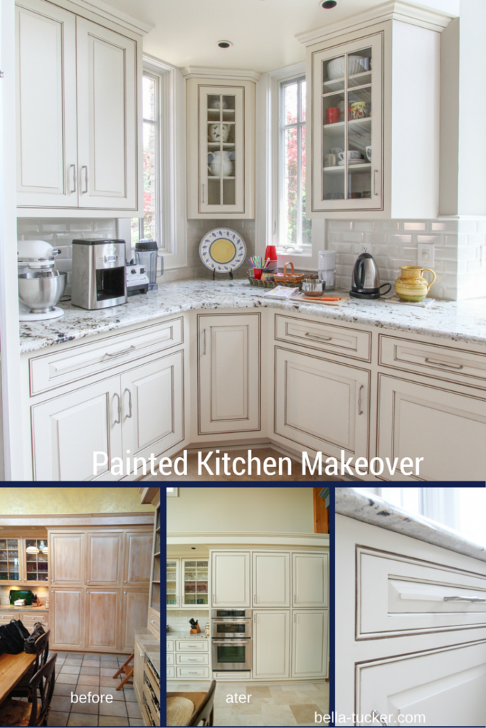 painted kitchen cabinets- bella tucker decorative finishes