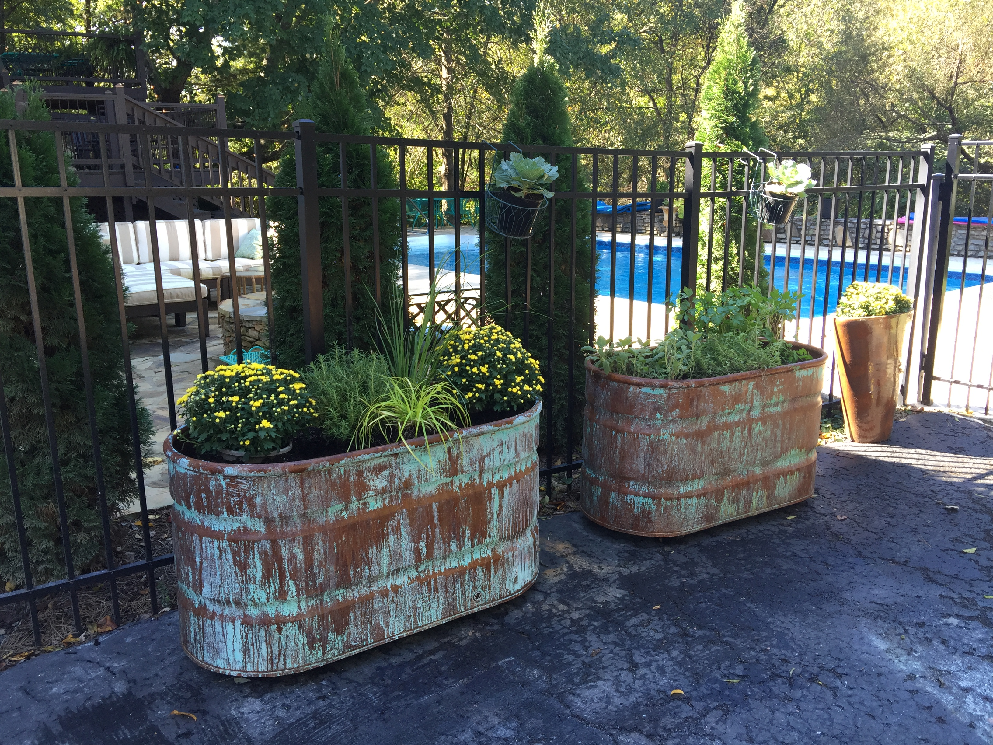 COPPER PATINA CONTAINER GARDEN- BELLA TUCKER DECORATIVE FINISHES